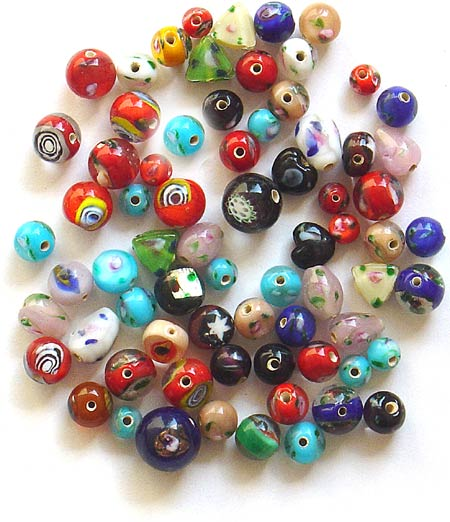 Flower Glass Beads Mix<br>(Double Work Inside)